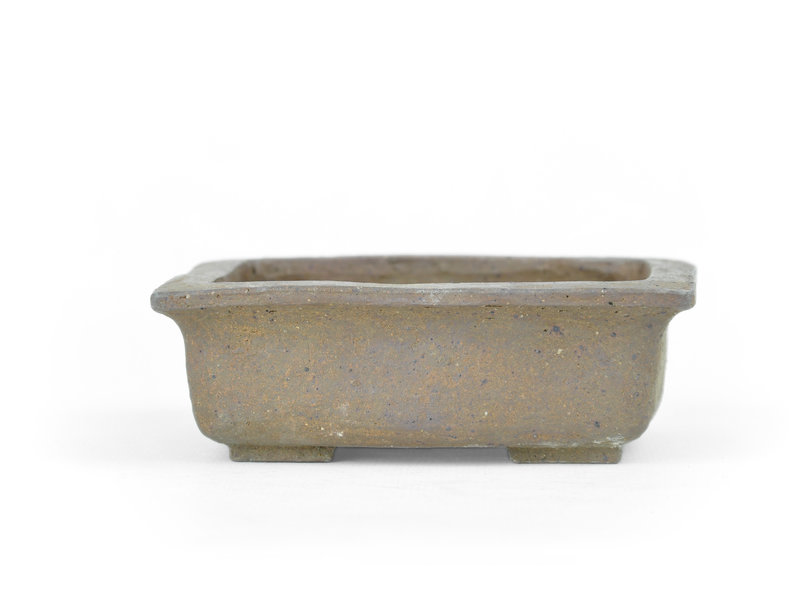 Rectangular unglazed bonsai pot - 102 x 94 x 36 mm