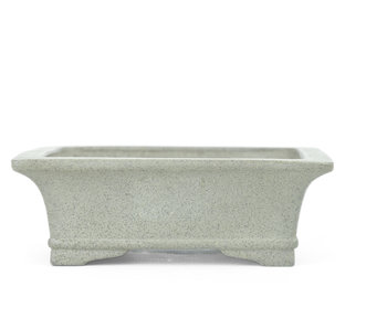 124 mm rectangular unglazed bonsai pot by Shibakatsu, Tokoname, Japan, Japan