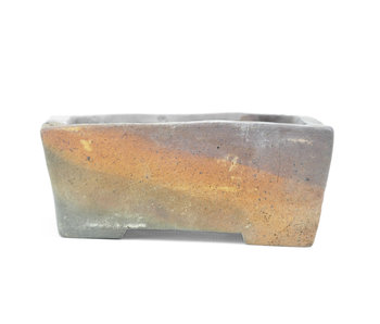 115 mm rectangular unglazed pot from Japan