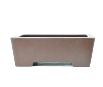131 mm rectangular unglazed bonsai pot by Yamaaki, Tokoname, Japan, Japan