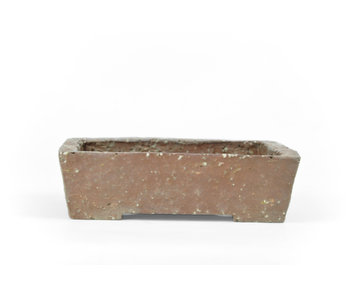 117 mm rectangular unglazed pot from Japan