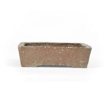 Maceta rectangular sin esmaltar de 117 mm de Japón