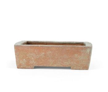 111 mm rechthoekige ongeglazuurde pot uit Japan