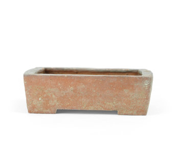 111 mm rectangular unglazed pot from Japan