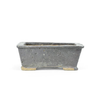 115 mm rectangular brown pot from Japan