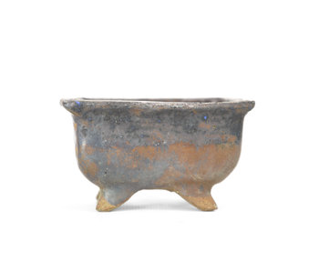 86 mm rectangular brown pot from Japan