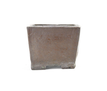 78 mm square brown pot from Japan
