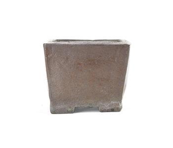 78 mm vierkante bruine pot uit Japan