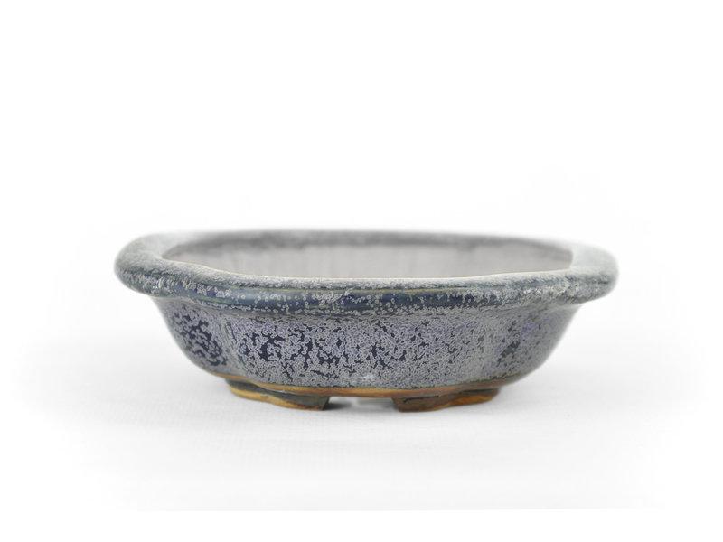Mokko blauwe Heian Kosen bonsaipot - 160 x 120 x 30 mm