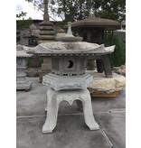 Japanse stenen lantaarn Kaku Yukimi Gata 117 cm