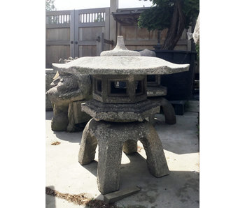 Lanterna giapponese in pietra Rokkaku Yukimi Gata 80 cm