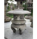 Japanse Stenen Lantaarn Maru Yukimi Gata 88 cm