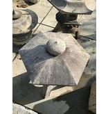 Japanse stenen lantaarn Kodai Yukimi Gata 100 cm