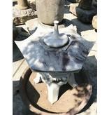 Japanse stenen lantaarn Kaku Yukimi Gata 93 cm