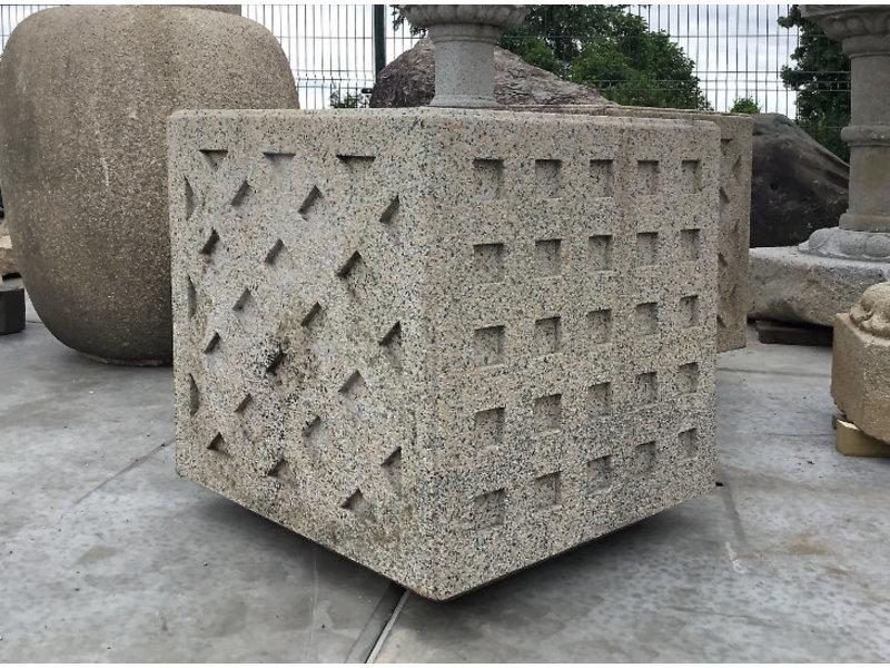 Japans Tsukubai-vierkant 68 cm