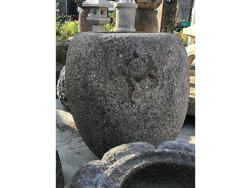 Japanse Tsukubai Square Goblet Frog 67 cm