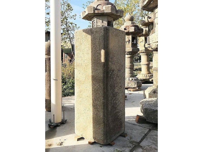 Colonne carrée Tsukubai japonaise 115 cm
