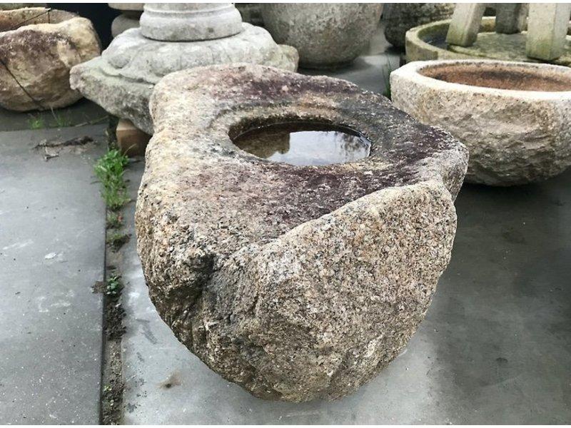Tsukubai japonais naturel 32 cm