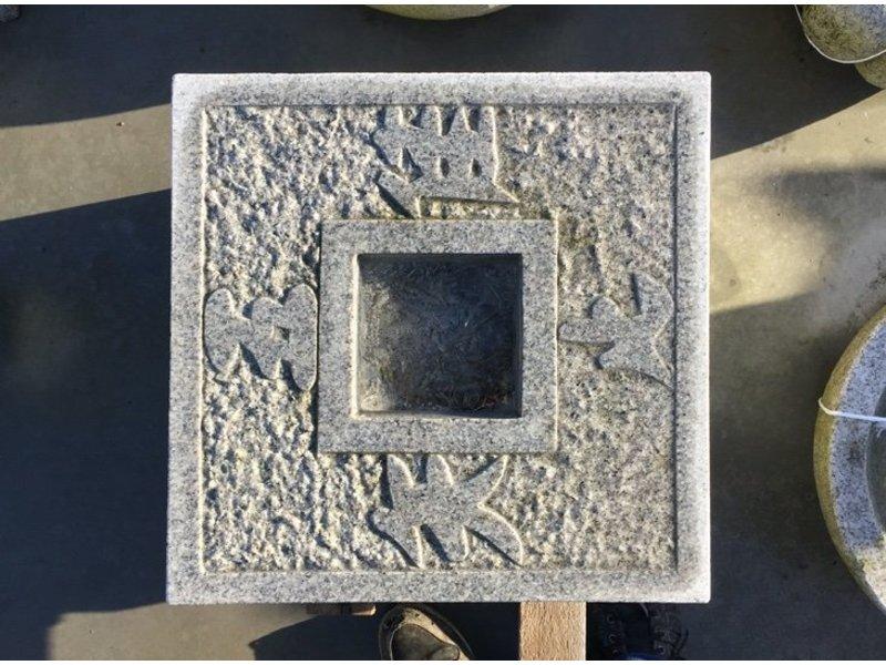 Japans Tsukubai vierkant 20 cm