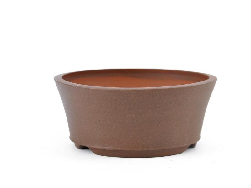 Round brown Frank Müller bonsai pot - 112 x 112 x 48 mm