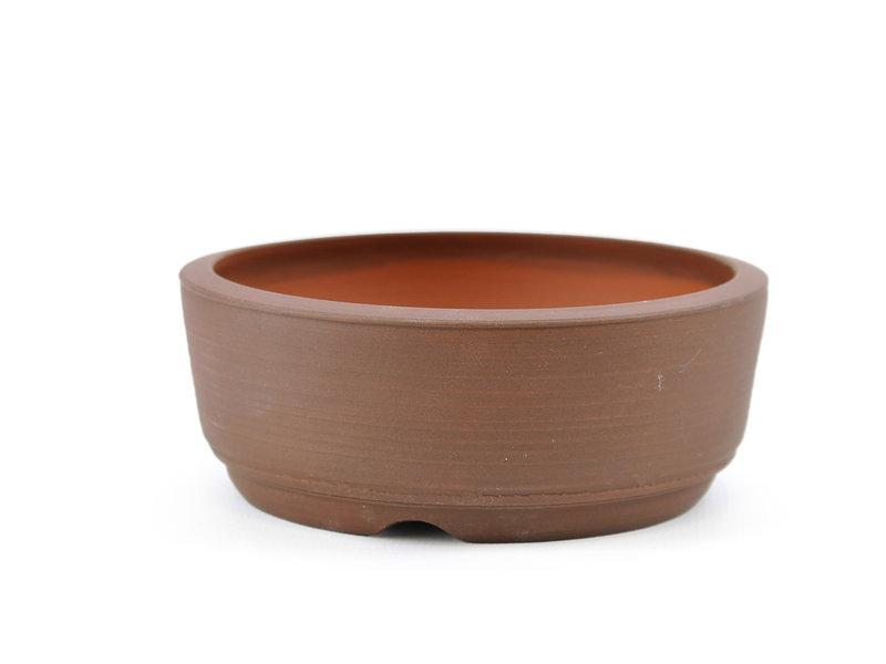 Round brown Frank Müller bonsai pot - 107 x 107 x 41 mm