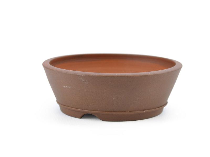 Round brown Frank Müller bonsai pot - 114 x 114 x 39 mm