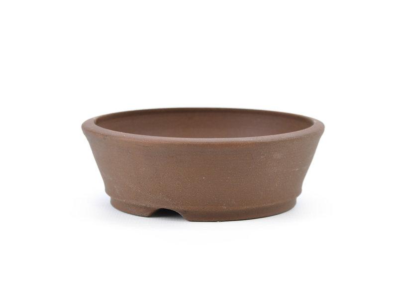 Round unglazed Frank Müller bonsai pot - 111 x 111 x 37 mm