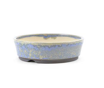 Pot à bonsaï rond 123 mm bleu par Frank Müller, Allemagne