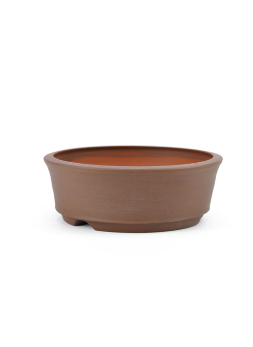 116 mm round unglazed bonsai pot by Frank Müller, Germany