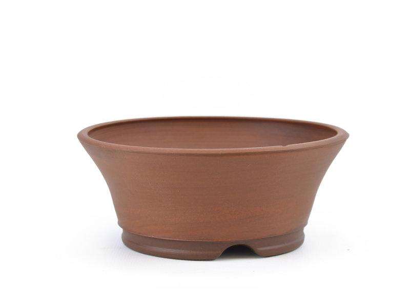 Round unglazed Frank Müller bonsai pot - 126 x 126 x 52 mm