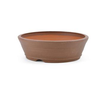 129 mm round unglazed bonsai pot by Frank Müller, Germany