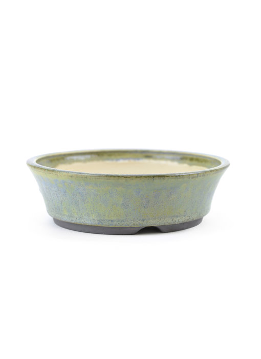 125 mm round blue bonsai pot by Frank Müller, Germany