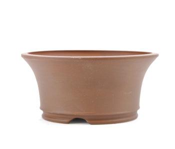 122 mm round unglazed bonsai pot by Frank Müller, Germany