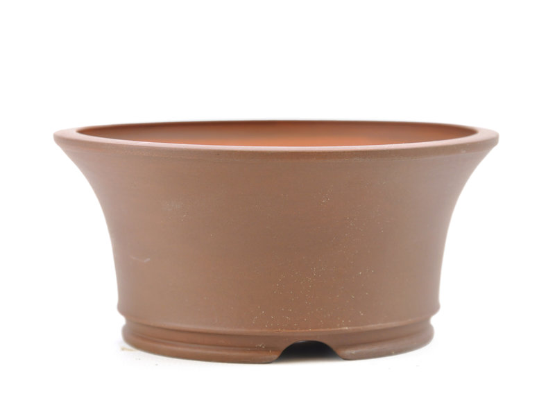 Round unglazed Frank Müller bonsai pot - 122 x 122 x 57 mm