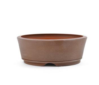 Pot à bonsaï rond de 109 mm non émaillé par Frank Müller, Allemagne