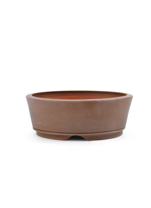 109 mm round unglazed bonsai pot by Frank Müller, Germany