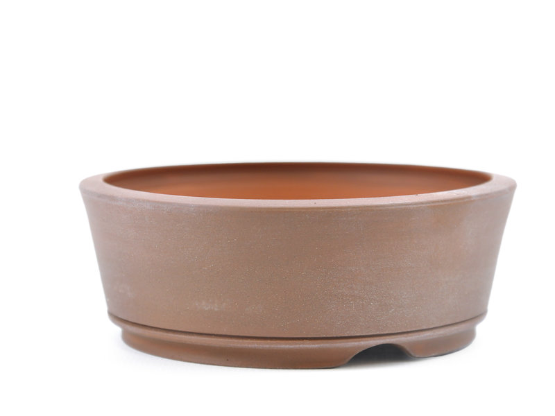 Round unglazed Frank Müller bonsai pot - 109 x 109 x 39 mm