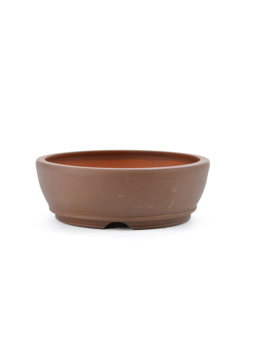 112 mm round unglazed bonsai pot by Frank Müller, Germany