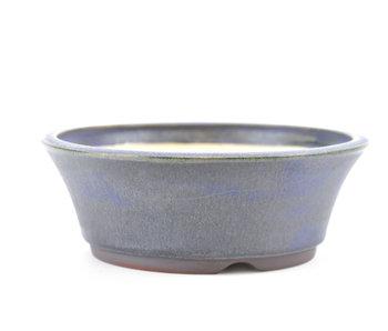 137 mm runder blauer Bonsai-Topf von Frank Müller