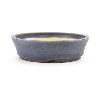 133 mm runder blauer Bonsai-Topf von Frank Müller