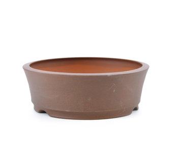 Pot à bonsaï rond non émaillé de 111 mm par Frank Müller, Allemagne