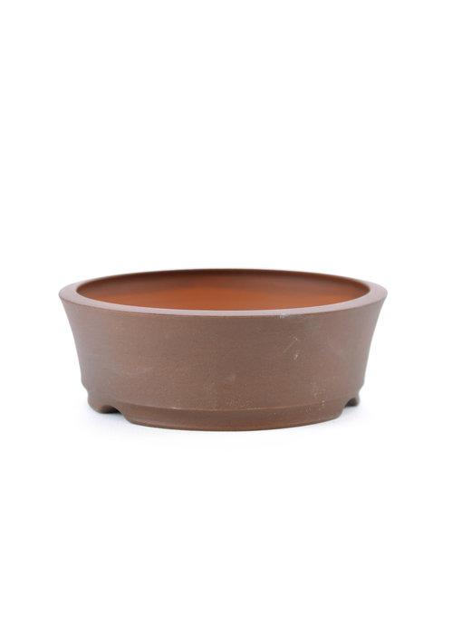111 mm round unglazed bonsai pot by Frank Müller, Germany