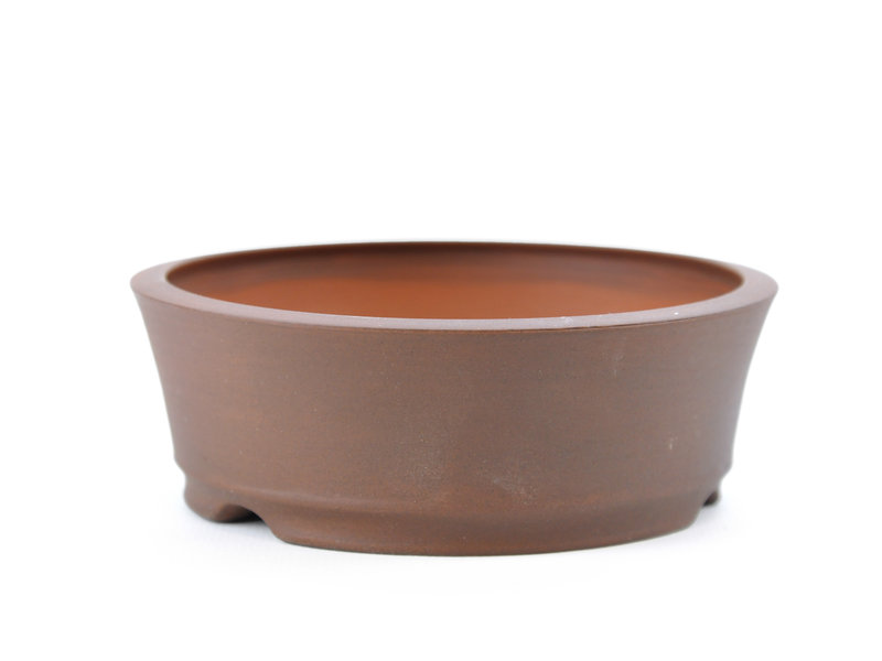 Round unglazed Frank Müller bonsai pot - 111 x 111 x 39 mm