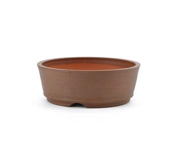 115 mm round unglazed bonsai pot by Frank Müller, Germany