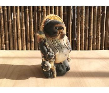 Ceramica giapponese Tanuki danneggiata 34 cm