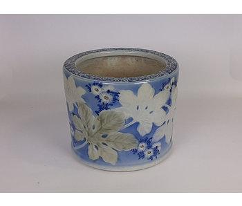 Vaso da fiori Hibachi giapponese in porcellana 25 cm