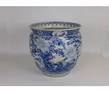 Pot de fleur japonais Hibachi en porcelaine 35 cm