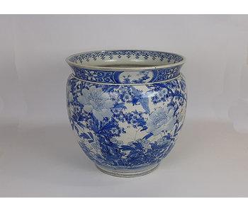 Vaso da fiori Hibachi giapponese in porcellana 35 cm