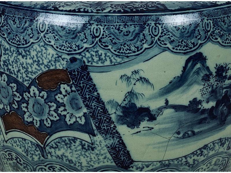 Japanse Hibachi Bloempot Porselein 37 cm