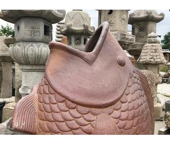 Vaso Carpa Koi in ceramica giapponese 94 cm